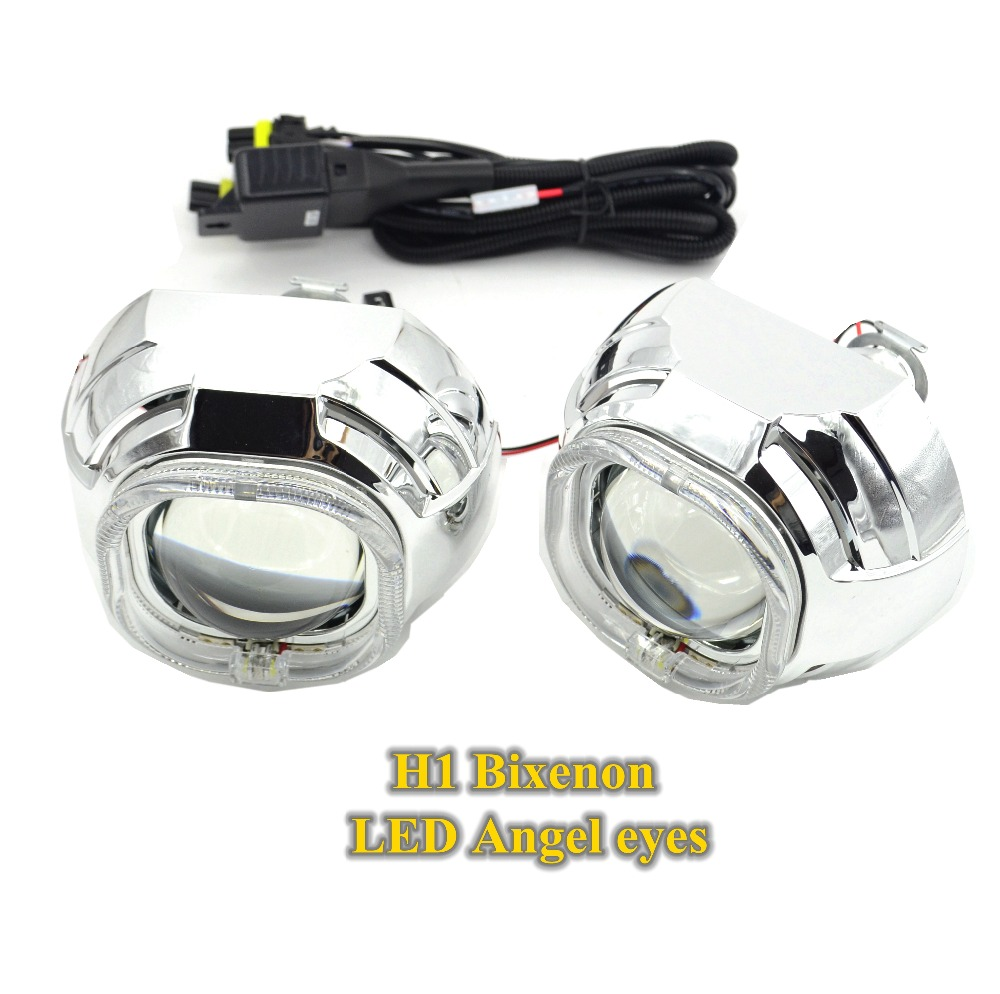 3.0 inch bixenon hid projector lens LED angel eyes day running function h1 3.0inch lens square led eyes white color mp620 mp622 mp625 projector color wheel mp620 mp622 mp625