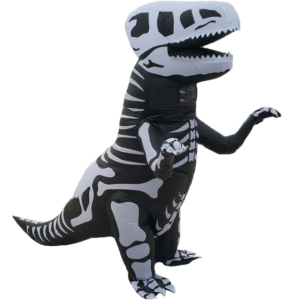 Adults Inflatable T-REX Dinosaur Costume Funny Halloween Dress Blowup Outfits US