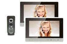 YobangSecurity 10″Inch LCD big Screen Wired Video Intercom Door Phone Doorbell 2-Monitor 1-Camera Night Vision