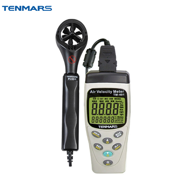 TENMARS TM-401 Handheld Digital Multifunctional Anemometer, Air Velocity Meter  цены