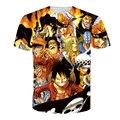 2016 hombres Naruto Impresión 3D T Shirt de Dibujos Animados Anime Dragon Ball Camiseta hogar Ropa Harajuku Una Sola Pieza Camisetas Hombre QA998