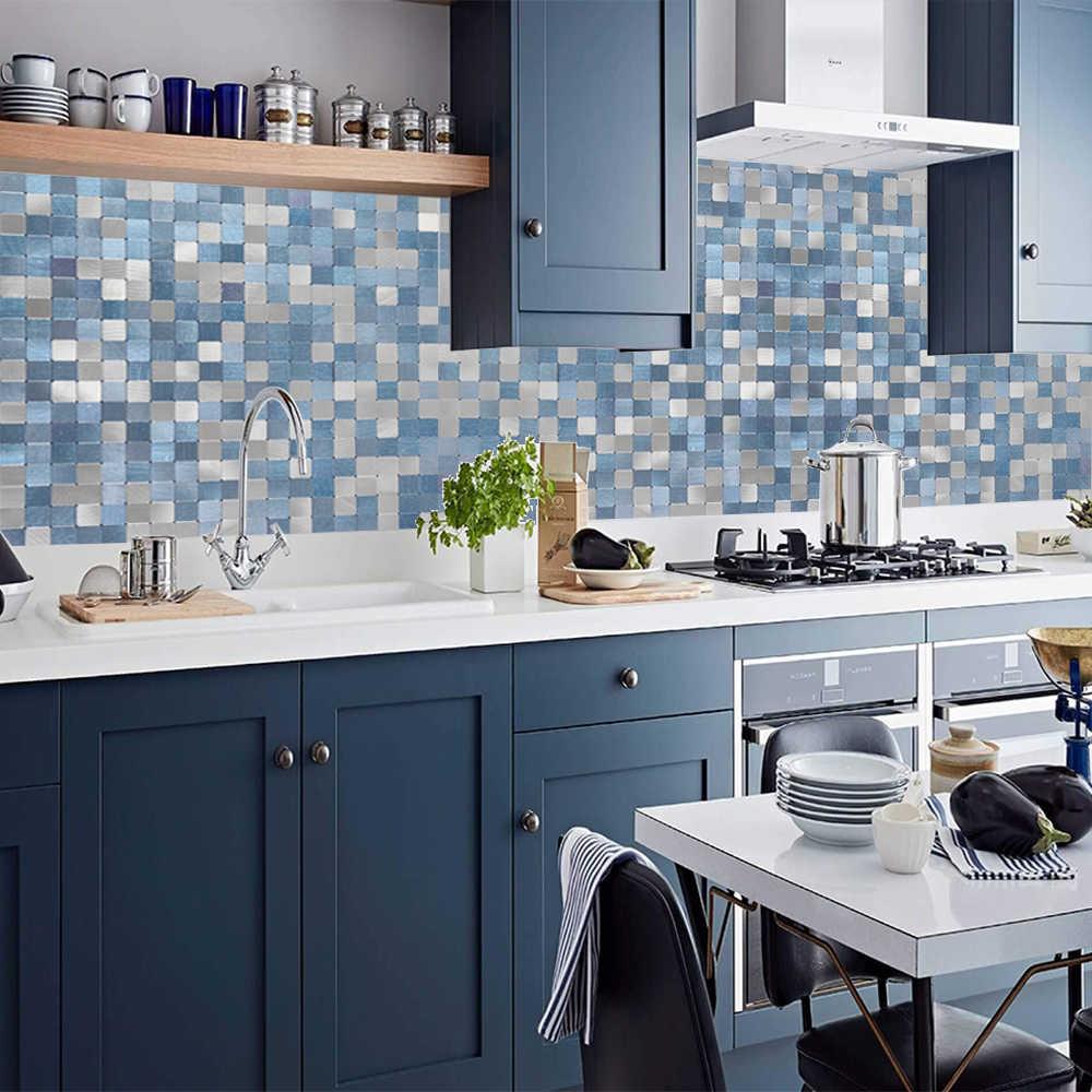 - 2019 Homey Mosaic New Design Sky Blue Peel And Stick Mosaic Wall