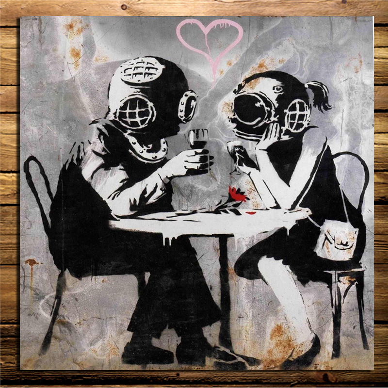 Banksy appointment Graffiti Wallpaper Canvas Painting Living Room Home Decoration Modern Wall Art Oil Posters Pictures