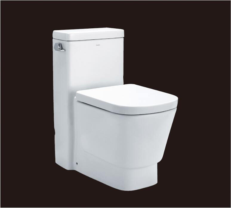 2016 hot sales water closet one-piece toilet S-trap toilets with PVC adaptor UF soft close seat AST357 UPC certificate