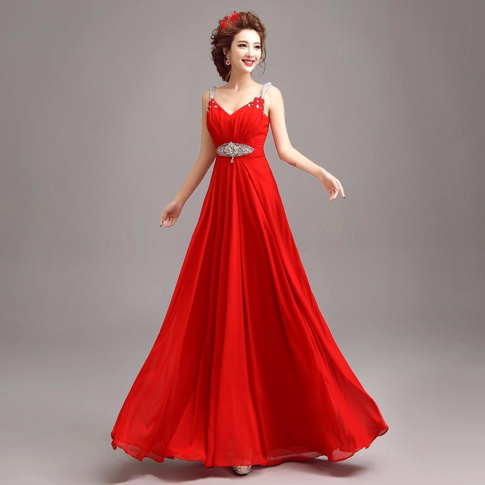 Aliexpress Buy Fashion 2016 Elegant Red Sexy Deep V Neck Long Casual Dress Sleeveless Tank