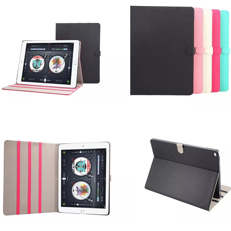 Fashion Luxury Smart Flip Stand Colorful PU Leather Case Cover for Apple iPad Pro 12.9  2015 Release Tablet multifunctional luxury flip stand case