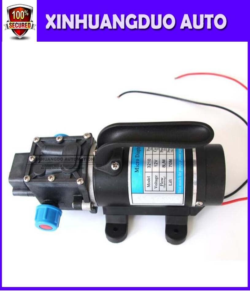 DC 100 Вт 12В/24В с вентилятором напряжение водяной насос 8л/мин рефлюкс клапан диафрагмы высокого давления небольшой Электрический водяной нас