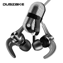 DUSZAKE Metal Bass Headphone For Phone In Ear 3.5mm Earphone for Phone Stereo Bass Wired Earpiece With Mic for Samsung Xiaomi