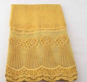 2018 модный кружевной шарф с принтом для женщин с цветочной вышивкой, хлопковый хиджаб с кружевом, накидка-платок, 10 цветов, бесплатная достав...