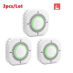 3 sztuk detektor dymu bezprzewodowy 433MHz ogień ochronny zabezpieczający czujnik alarmu dla inteligentnej automatyki domowej  praca z Sonoff most rf w Moduły automatyki domowej od Elektronika użytkowa na