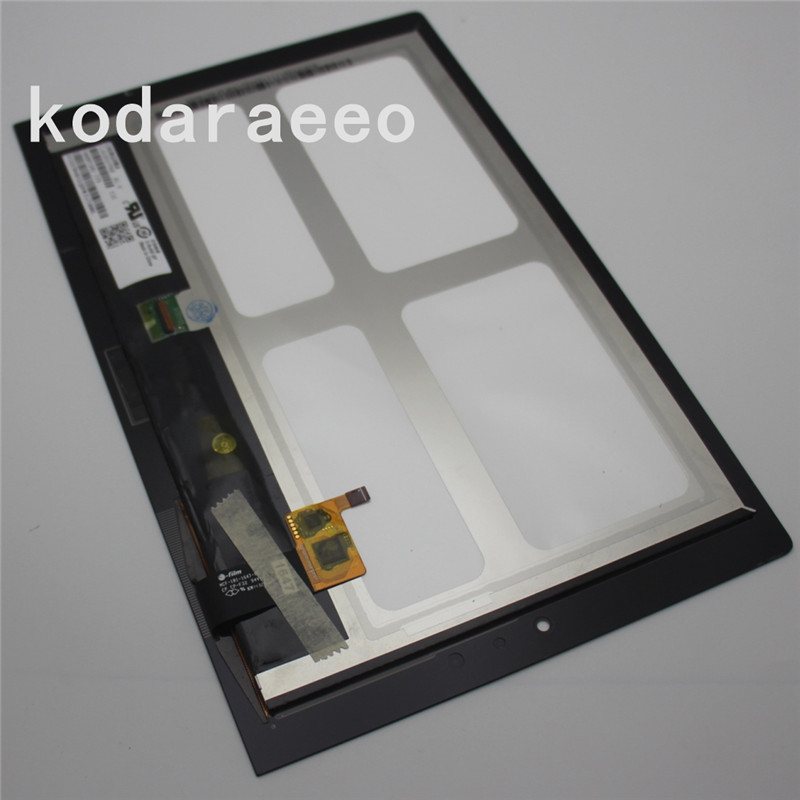 kodaraeeo For Lenovo Yoga Tablet 2 1051 1051F Touch Screen Digitizer Glass+LCD Display Assembly Panel Replace Free Shipping free shipping touch screen with lcd display glass panel f501407vb f501407vd for china clone s5 i9600 sm g900f g900 smartphone