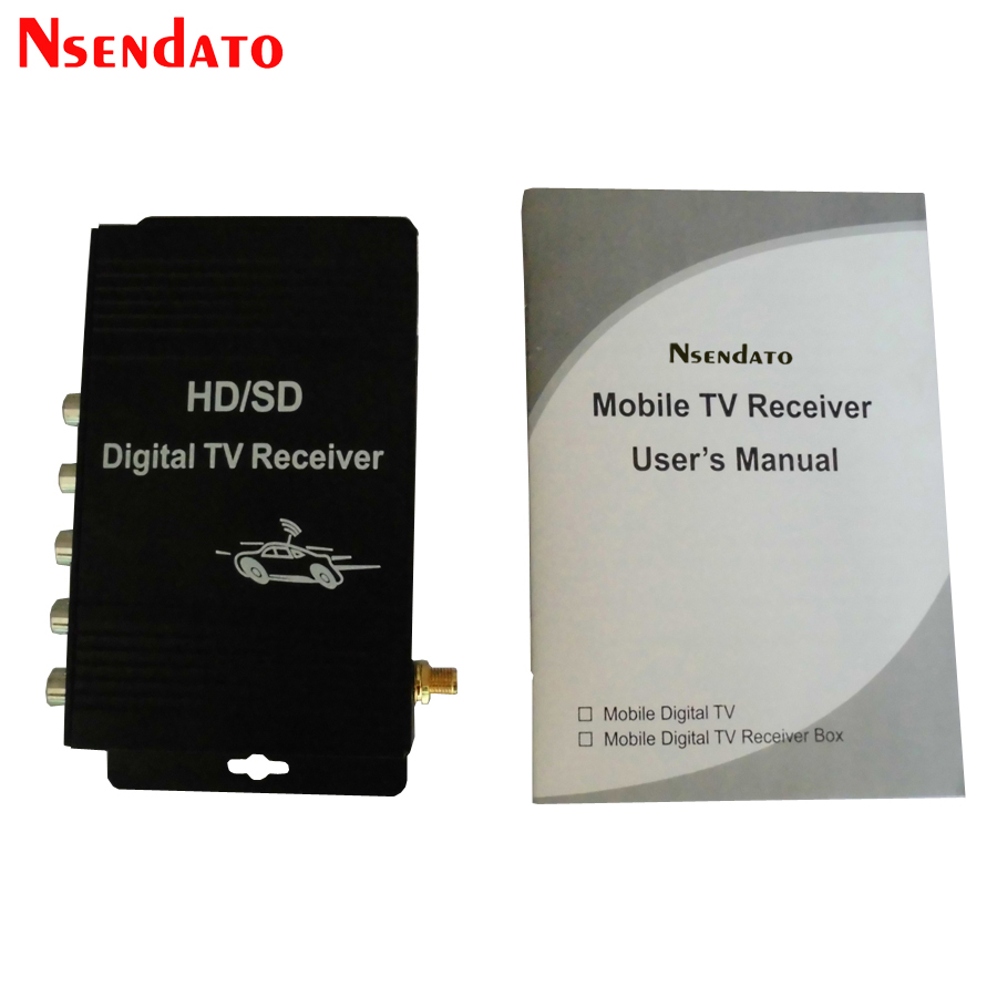 Digital Car ATSC HD TV Receiver Tuner With Antenna for USA Mexico Canada 1080p mobile dvb t2 car digital tv receiver real 2 antenna speed up to 160 180km h dvb t2 car tv tuner mpeg4 sd hd
