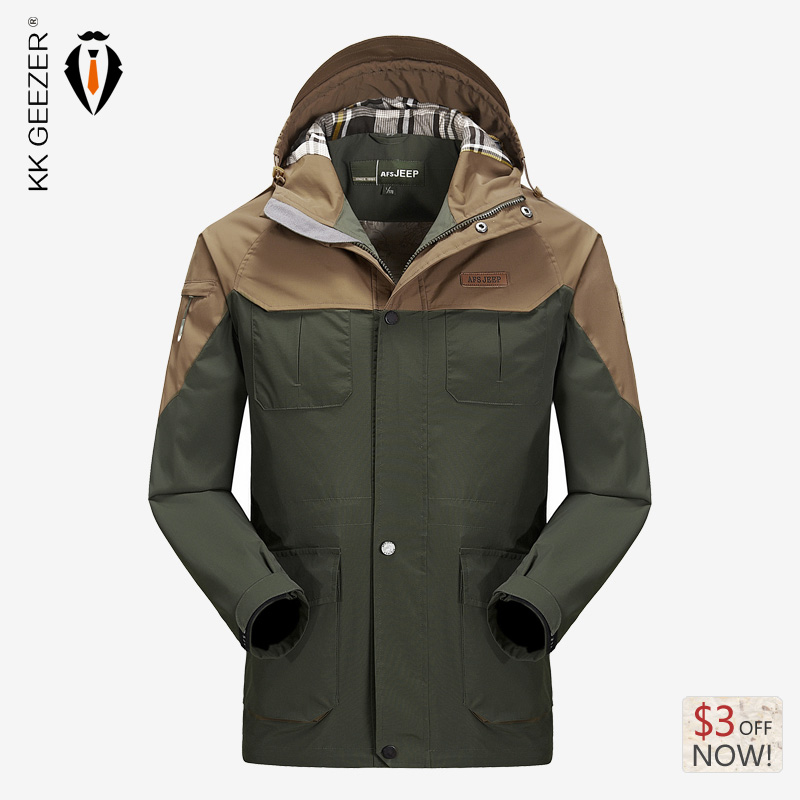 2017 Winter Brand Waterproof Jackets Coat High Quality Nylon Hooded Men's Clothing Warm Fashion Wear Thickening Jackets Coat
