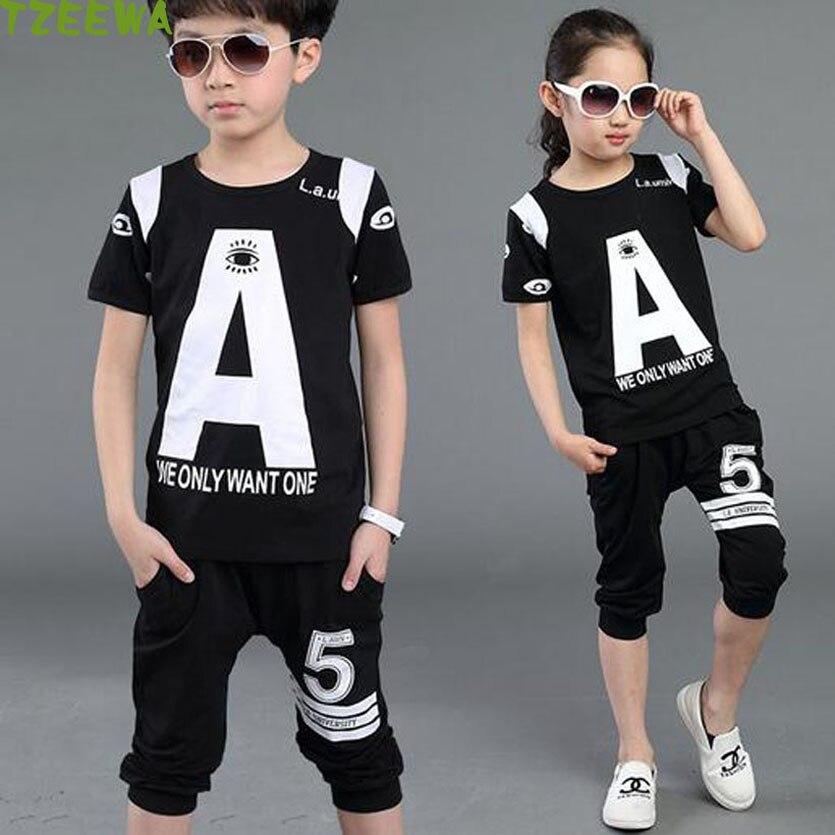 2017 Summer Kids Boys Clothes Set Casual Children's Set Fashion Kids Set Hip Hop Kids Clothing Vetement Garcon