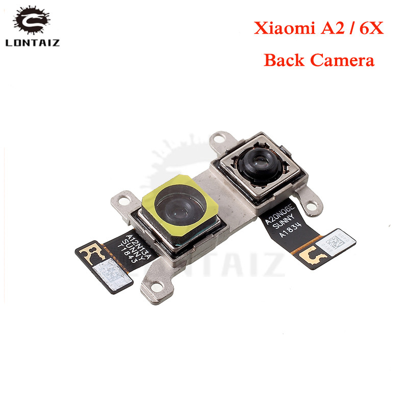 Back Rear Camera Flex Cable For Xiaomi Mi A2 MIA2 / Mi 6X MI6X M6X Front Camera Moudel Phone Repair Replacement Parts