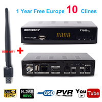 1 Year Clines Europe Satellite Receiver Portugal Spain DVB S2 Support LNB 1080P Full HD Cline
