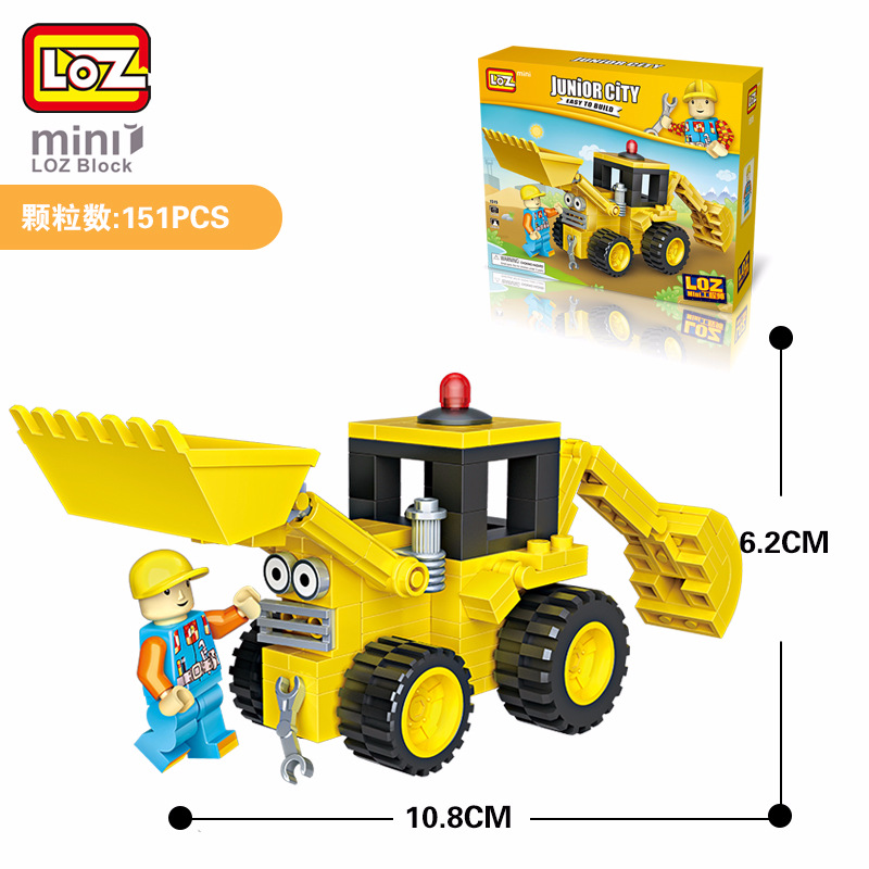 LoZ мини блок createur техники бульдозера блоков RC Камион бульдозер chargeur MODELES Enfants Jouets educatifs briques де