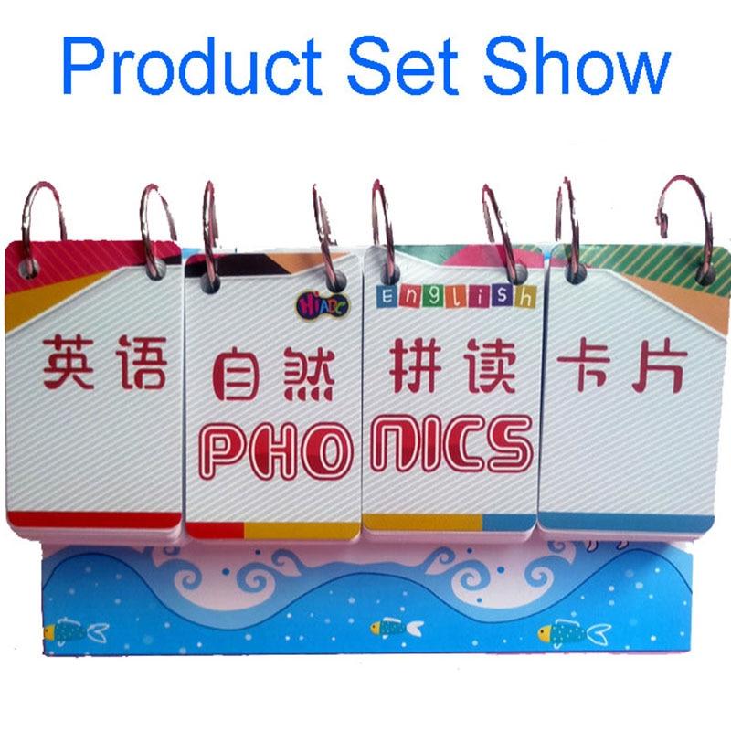 252Pcs English Phonics+1Pcs Bracket Calendar Flash Card Word Cards Early Educational Toys For Children Teaching Kids Montessori