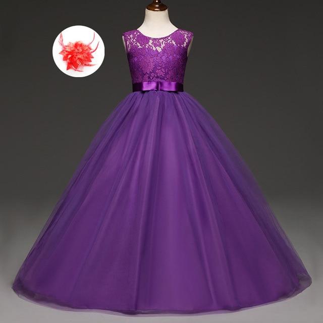 Vestidos de boda largos niños niña princesa tulle niño 6 años tamaño ...