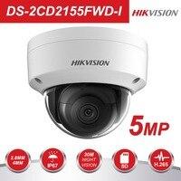 Hikvision5MP Оригинальная английская версия купола Камера DS 2CD2155FWD I IP стандартным объективом Камера H.265 Макс. 2560*1920 @ 30fps IK10