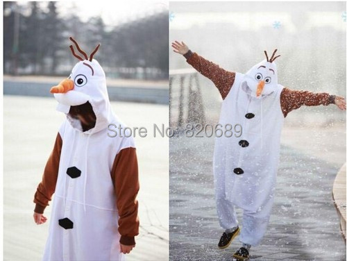 Autume Anime Cosplay Olaf Snowman Cos Pajamas Adult Women Men Unisex Party Costumes Halloween Dresses S M L XL