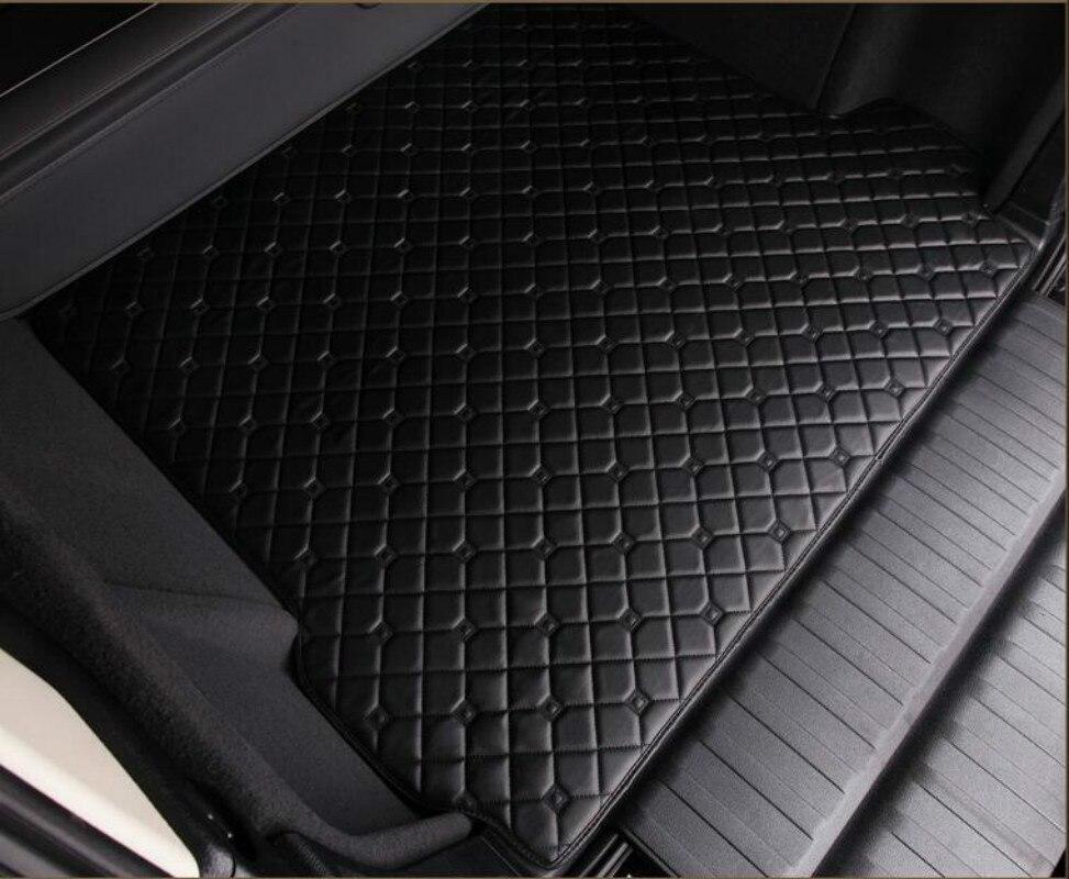 цена на Waterproof carpets Durable rugs Custom special car trunk mats for Ssangyong Korando Rexton Rodius ActYon Kyron Chairman