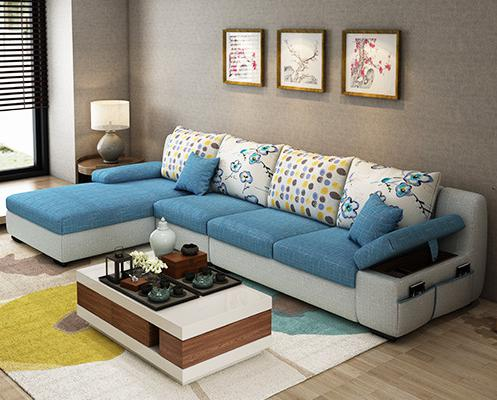 Beauty Apartment  Fabric Sofa With Center Table the apartment