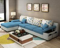 Beauty Apartment Fabric Sofa With Center Table