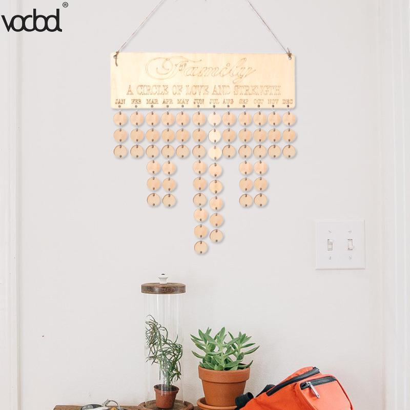 Wooden Calendar Board DIY Specical Date Record Sign Board Creative Home Wall Hanging Decor Wood Calendar Gifts flower and wood board wall hanging