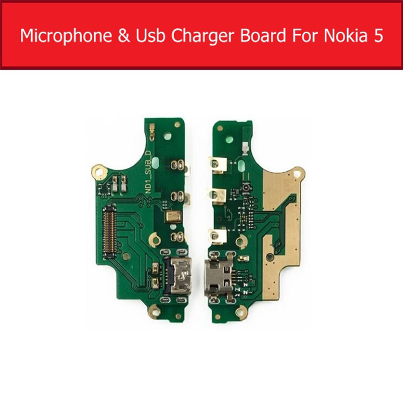 Microphone&Usb Charger Board For <font><b>Nokia</b></font> 5 N5 TA-<font><b>1053</b></font> TA-1021 TA-1024 USB Charging Port Dock Plug Jack Connector Flex Cable Parts image