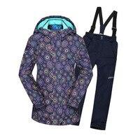Children Jacket Suit Winter Sport Suit for Girl Clothes 2018 Russian Girls Warm Jacket Set Windproof Waterproof Outdoor Suits