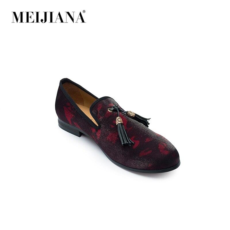 Confortáveis Novos Respirável Homens Primavera Sapatos Vermelho Moda Meijiana Masculinos Marca Casuais 1wpwOT