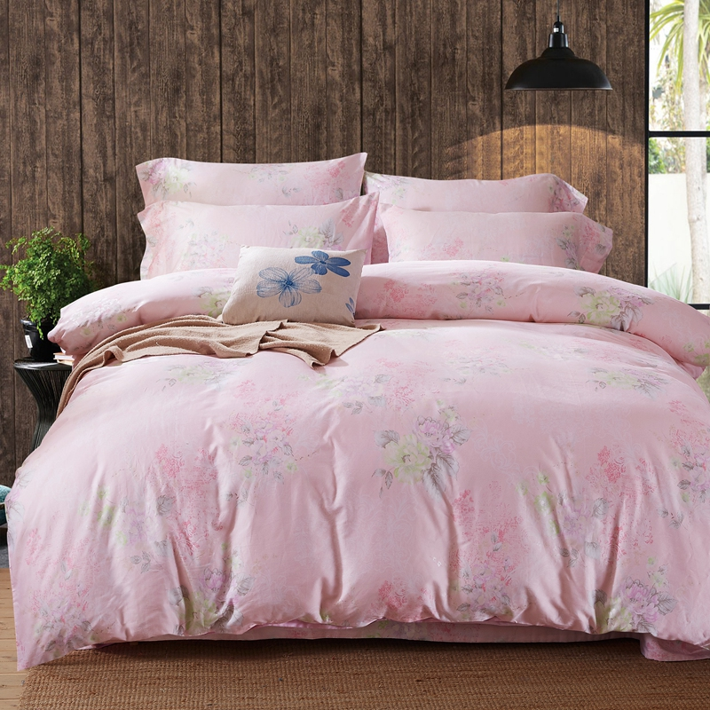 The 60 cotton Bedding set Reactive dyeing Duvet Cover comfortable Bed Sheet 4pcs Pillowcases Textile Bed Queen King size