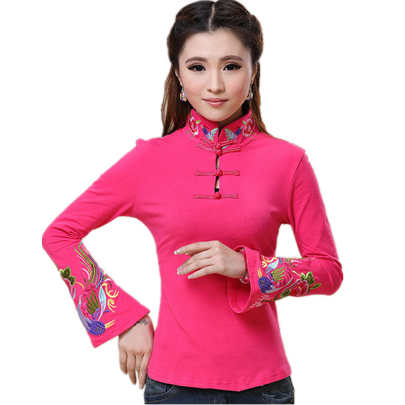 2018 Brand Spring Plus Size Women Blouse Shirt Cotton Fashion Embroidery Blusas Feminina Pullover Quality Body Tops Tee Clothing 1