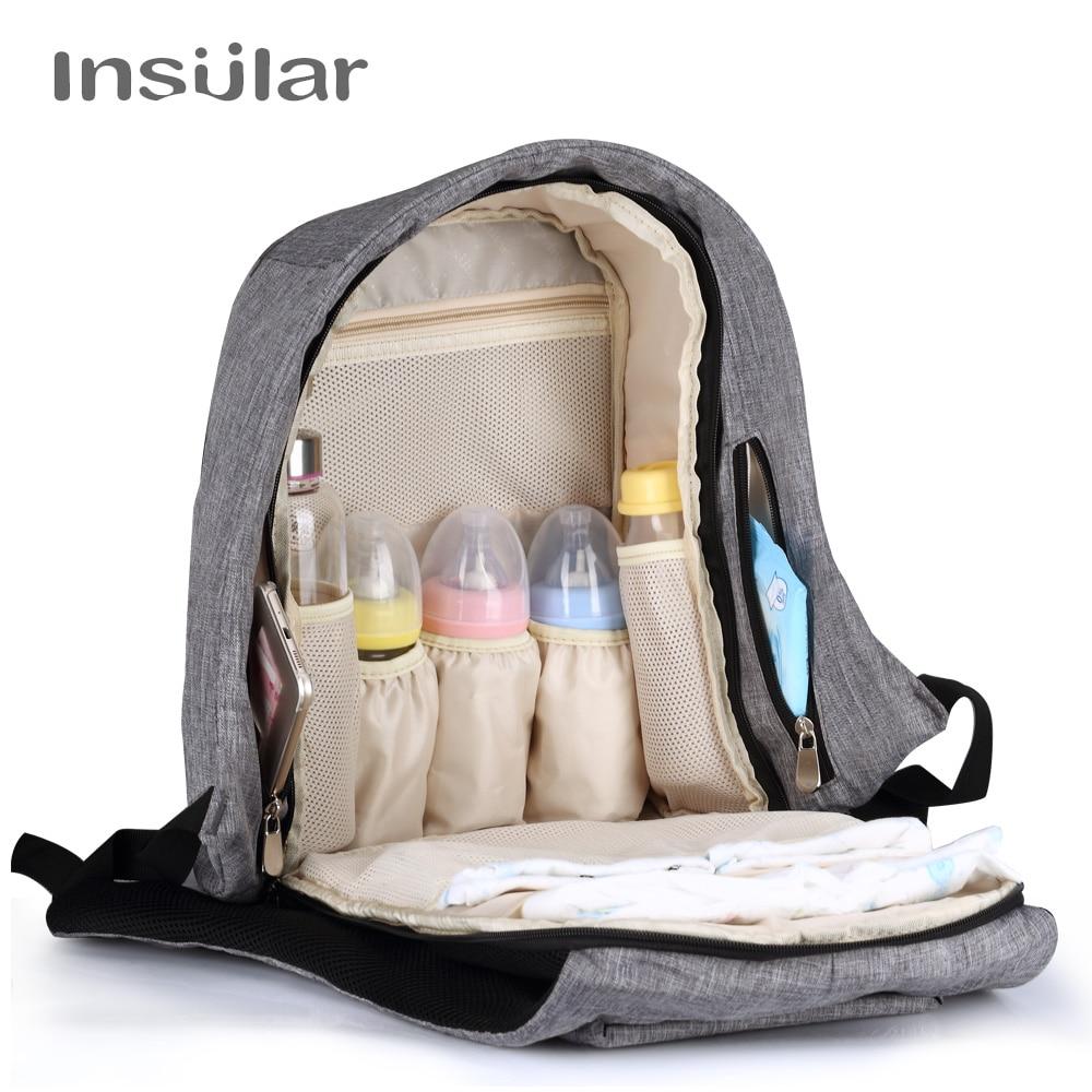 Insular Baby Luier Rugzak Tas Mummy Moederschap Nappy Changing Bag - Luiers en zindelijkheidstraining - Foto 3
