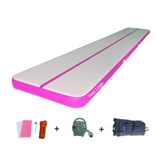 12m x 2m Air Track Tumbling Mat for Gymnastics Inflatable Airtrack Floor Mats with Free Electric Air Pump Professional Training недорого