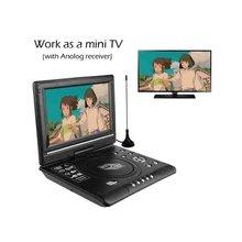 VERFANS DVD HD портативный EVD 7,8 дюймовый мини-плеер мини-игра мини-ТВ Встроенный 500 детей Классическая игра поддержка SVCD VCD CD CD-R / RW