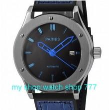 2016 nueva moda 44mm PARNIS movimiento mecánico Automático relojes de los hombres relojes de Moda al por mayor 0264aa