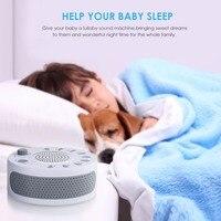 Portátil ruido blanco de bebé luz terapia de sueño regulador con 9 planta sonido relajante bebé Monitor