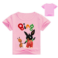 Summer New Cartoon Bing Bung T Shirt Girls Tops Children t shirts Boys tshirts Unisex Rabbit Tees Baby Clothes