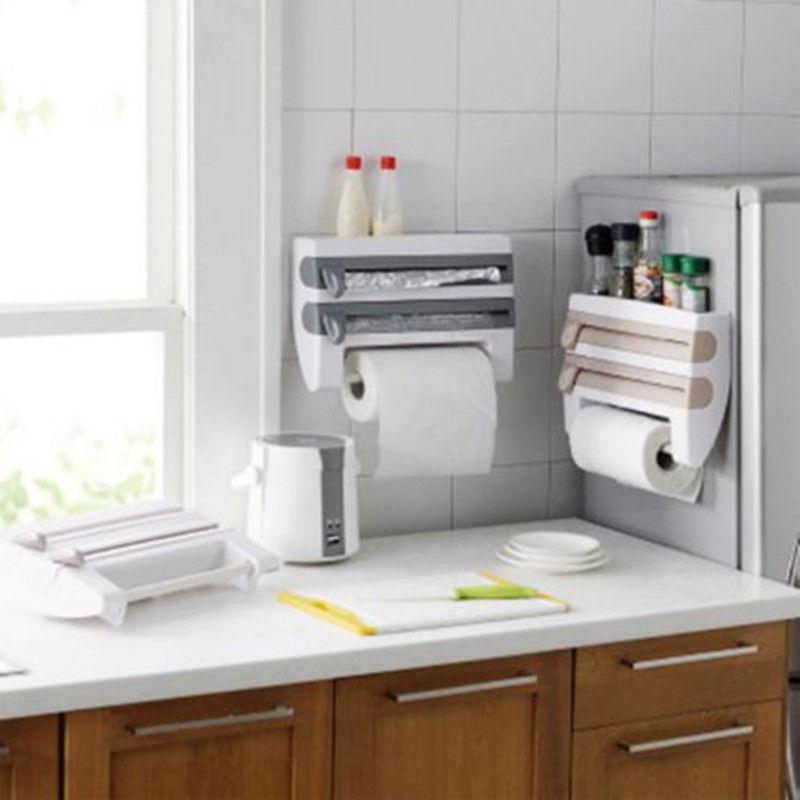 2018 Newest Hot Kitchen Roll Dispenser Cling Film Tin Foil