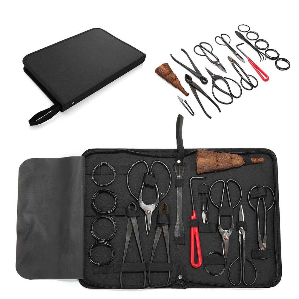 10 stücke Garten Bonsai Werkzeug Set Stahl Kit Cutter Schere mit Nylon Fall -- M25