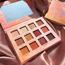 12 Color Eyeshadow Palette Shimmer Shining Makeup Glitter Pigment Smoky Eye Shadow Pallete Cosmetic Matte