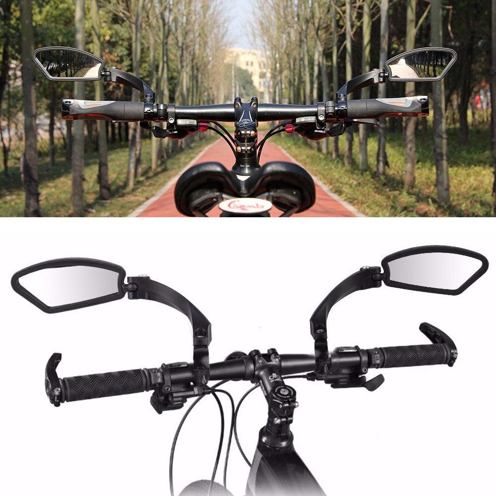 屋外自転車ミラー自転車アクセサリーリアビューミラーハンドル柔軟な安全バックミラー 360 度反射つ折りブラインド