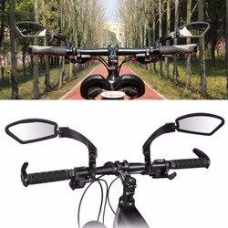 Espelho de bicicleta ao ar livre acessórios da bicicleta espelho retrovisor guiador segurança flexível volta espelho 360 graus refletor dobrado cego