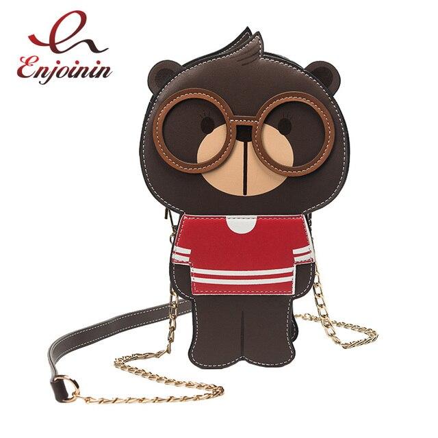 Милый медведь формы модные повседневные Сумки сумка женская сумка кошелек женский Crossbody мини flap messenger bag 3 вида цветов