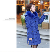 women jacket women winter coat New winter long section Nagymaros collar big yards thick down jacket free shipping