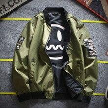 2018 Brand Autumn Winter New Two Side Jacket Coat Men Top Design Casual Outwear Windbreaker Jacket Bomber supreme Male Jacket