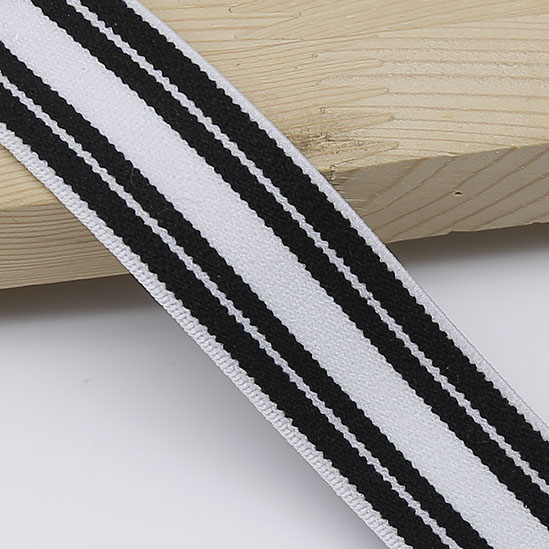 10yards 2.5cm Width High Quality Black And White Stripe