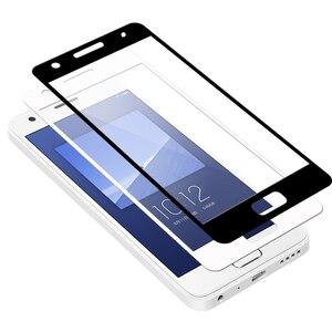 Silk Printed Full Cover 9H 2.5D Tempered Glass Screen Protector On The For Lenovo ZUK Z2 Z2 Pro K6 Note ZUK Edge protective Film(China)